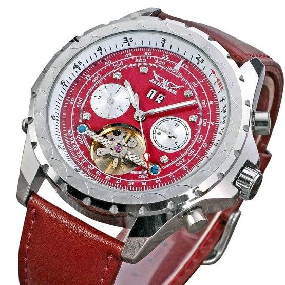 New Fashion Luxury JARAGAR Tachymeter Tourbillon Automatic Date Dial Wrist Watches