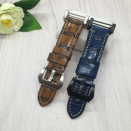 Smart watchband 24mm Quality Genuine Leather Watch band