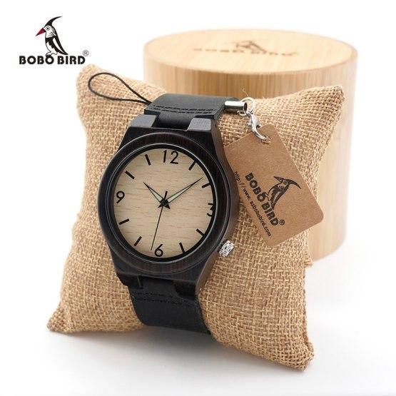 BOBO BIRD Men's Wood Bamboo Wristwatch Simple Unique Design Men