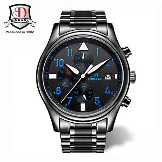 Luxury BINKADA Waterproof Automatic Mechanical Watch Men Military