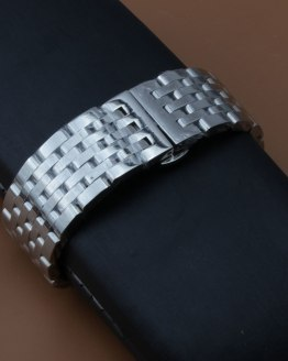 20/22mm Watch Band Men Wrist Strap Silver Replacement Stainless Steel