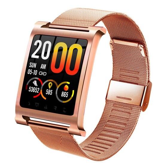 Men's Smart Watch Stainless Steel Mesh Strap IP68 Waterproof Phone Call