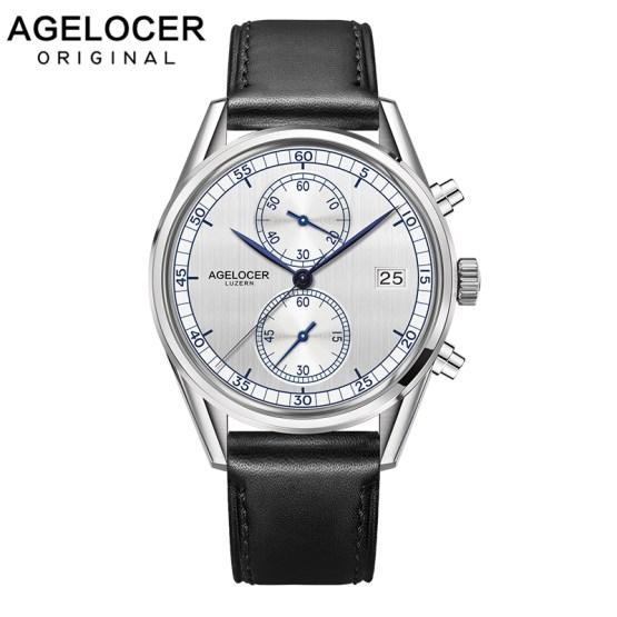 AGELOCER Men Luxury Men Chronograph Sport Watch Roles Reloj Timepieces