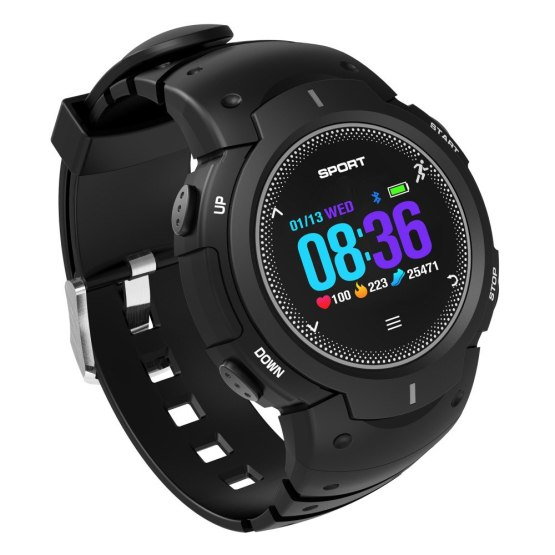 Men's Military Sports Smart Watch Tempered glass Fitness Heart Rate Monitoring