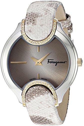 Salvatore Ferragamo Women's Signature Analog Display Quartz Beige Watch