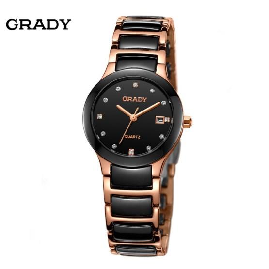 Luxury Ceramic Water Resistant Women Wrist Watch