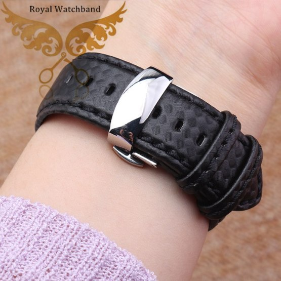 18mm 20mm 22mm 24mm Top Waterproof With Genuine Leather Watch Band