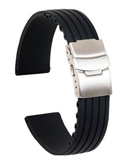 Ullchro Silicone Watch Strap Replacement Rubber Watch Band