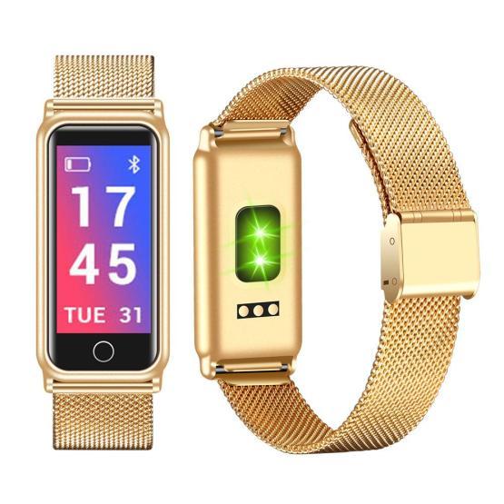 Bluetooth Smart Watch Men Sports Fitness Tracker Heart Rate Wristband