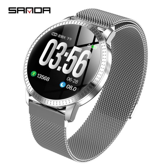 SANDA Luxury Smart Watch IP67 Waterproof Heart Rate Monitor
