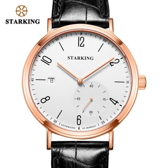 STARKING Luxury Men Automatic Mechanical Watch Self-Wind Auto Date