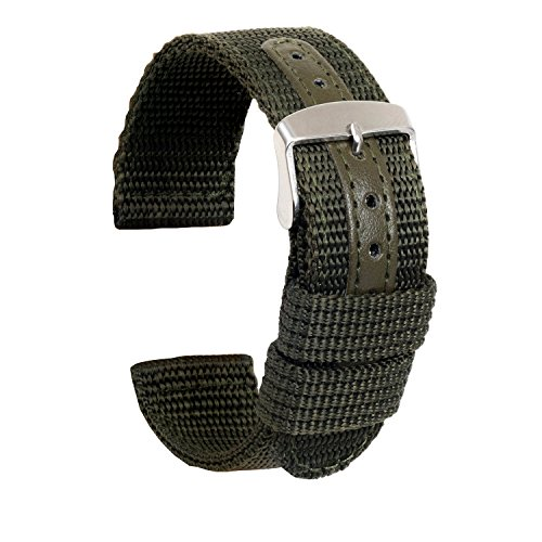 ullchro-nylon-watch-strap-replacement-canvas-watch-band-military-army-men-women-18mm-20mm-22mm-24mm-watch-bracelet-with-stainless-steel-silver-buckle-18mm-army-green