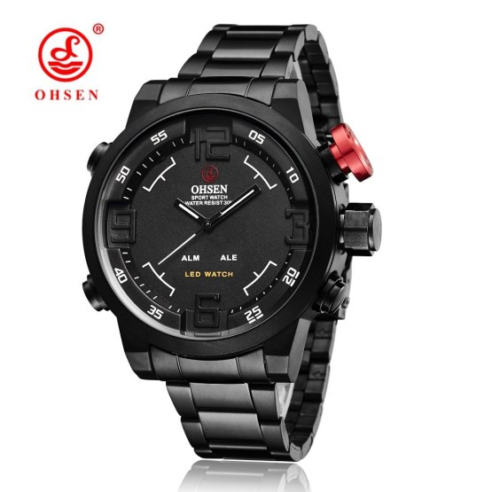 Original Brand OHSEN Quartz Digital Watch Men Male Man Sports Watch