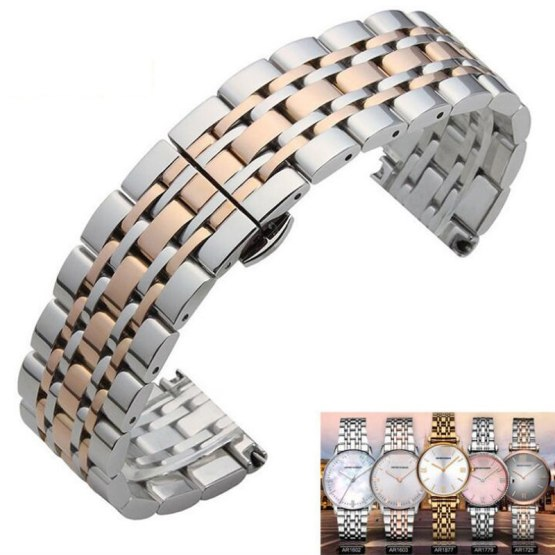 Metal Stainless Steel Watch Band Wrist Strap 16mm 18mm 20mm 22mm
