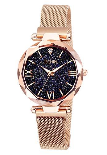 Jechin Fashion Women's Rose Gold Wrist Watch