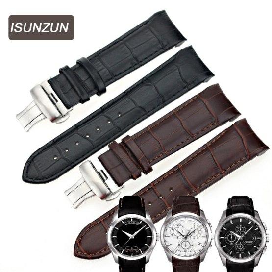 ISUNZUN Men's Watch Bands For Tissot T035 1853 Genuine Leather Watch Strap