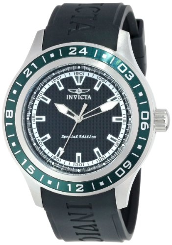 """Invicta Men's """"Specialty"""" Green Stainless Steel and Polyurethane Watch"""