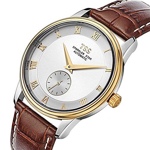 QWERTYUIOP Mens Hollow Wrist Watch/Fashion Waterproof Business Watch-E