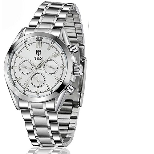 QWERTYUIOP Mens Multi-Functional Automatic Mechanical Watch