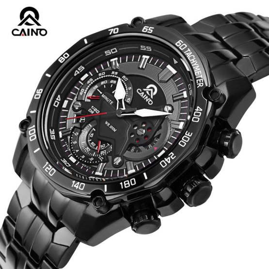 CAINO Men's Fashion Business Sports Watches Luxury Quartz Wrist Watch