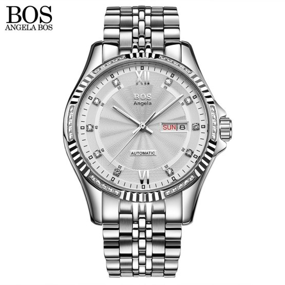ANGELA BOS Stainless Steel 2018 Automatic Date Men Watch