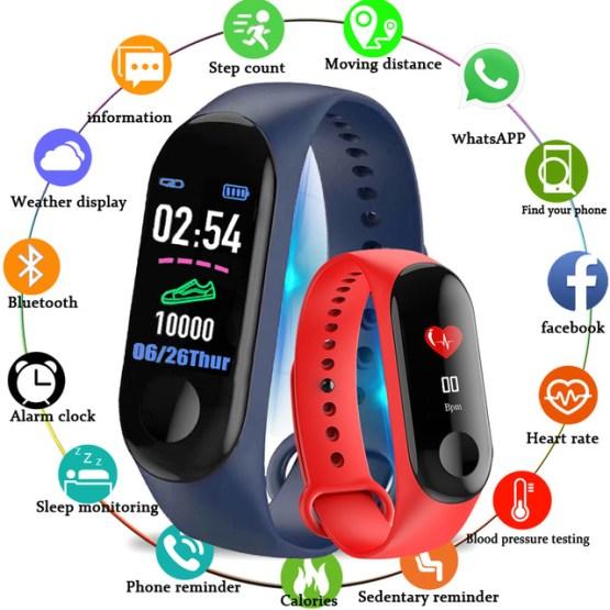 2019 New IP68 Waterproof Sports Smart Watch Men Women Sports