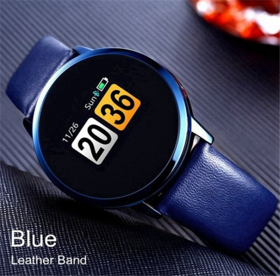 New Q8 OLED Bluetooth Smart Watch Stainless Steel Waterproof