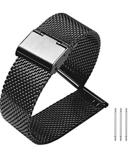 Milanese Mesh Stainless Steel Strap with Hook Buckle 22mm Classic Polished