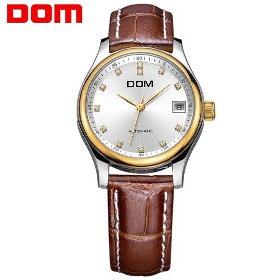 DOM luxury brand mechanical woman watch ladies wrist watches