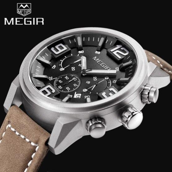 2017 Top Luxury Brand MEGIR Sports Watches Men's Quartz Chronograph