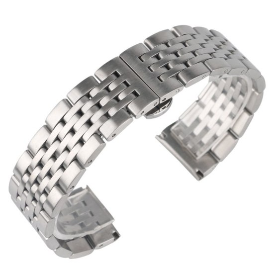 High Quality Silver 20mm 22mm 24mm Watch Band Stainless Steel