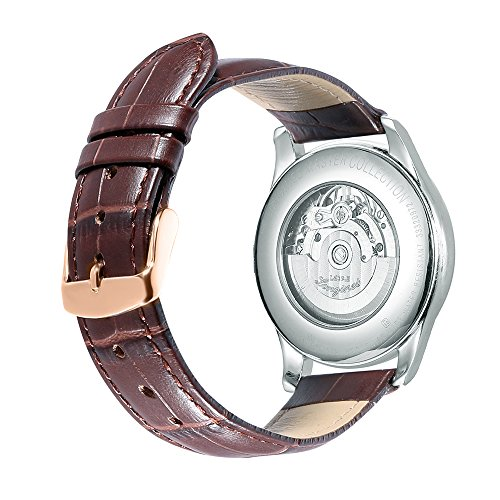 iStrap 20mm Calfskin Replacement Watch Band with Rose Gold Pin Buckle