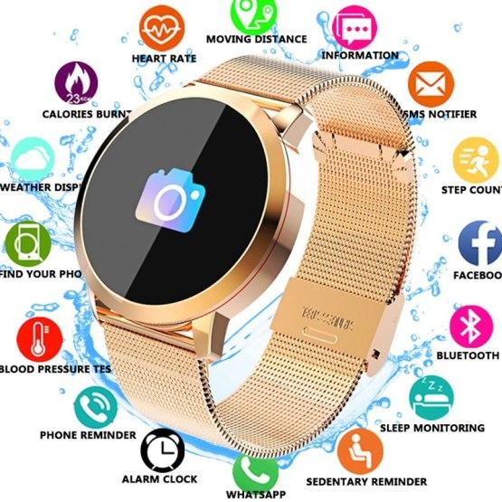 Q8 Fitness Tracker Women Smart Watch Men Smartwatch