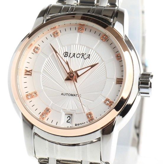 BIAOKA Brand Fashion Rose gold Watch women Clock Classic Mechanical