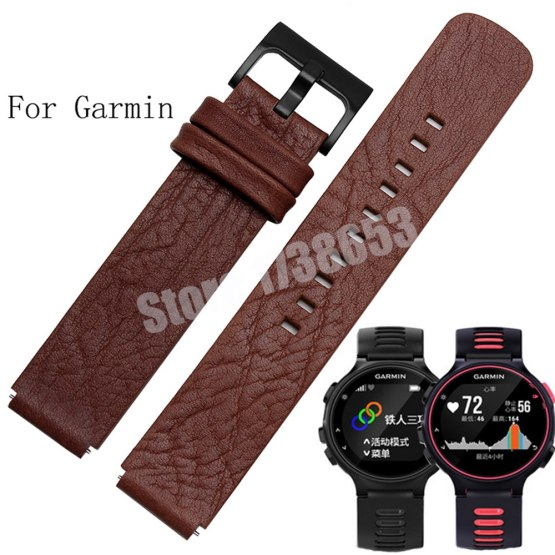 Quality Genuine Leather Watch band 22*15mm For Garmin