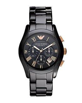 Emporio Armani Men's AR1410 Ceramic Black Chronograph Dial Watch