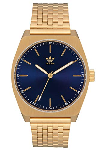 adidas Watches Process_M1. 6 Link Stainless Steel Bracelet, 20mm Width (Gold/Navy Sunray. 38 mm).