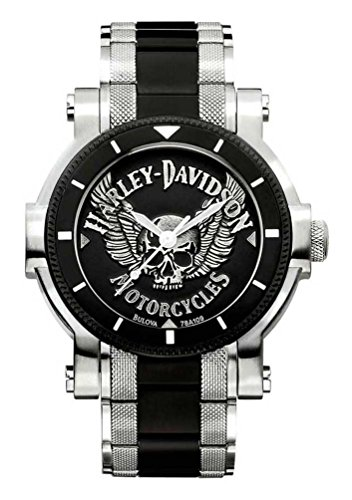 Harley-Davidson Men's Bulova Winged Skull Wrist Watch 78A109