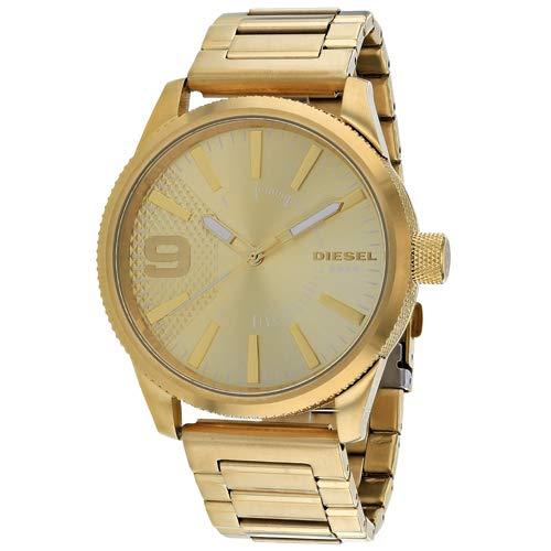 Diesel Men's Rasp Analog-Quartz Watch with Stainless-Steel Strap, Gold, 24 (Model: DZ1761)