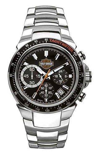 Harley-Davidson Men's Bulova Chronograph Bar & Shield Wrist Watch 78B113