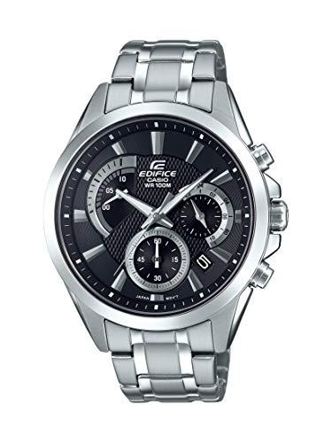 Casio Men's Edifice Silver Quartz Watch with Stainless-Steel Strap, 21.6 (Model: EFV-580D-1AVUDF)
