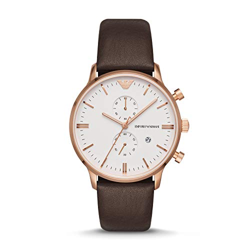 Emporio Armani Men's Brown Leather Watch AR1936