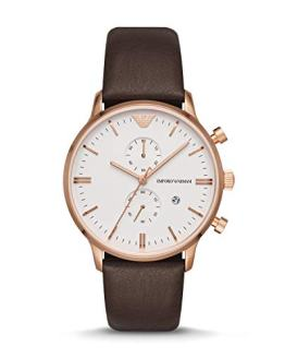 Emporio Armani Men's Brown Leather Watch AR1936