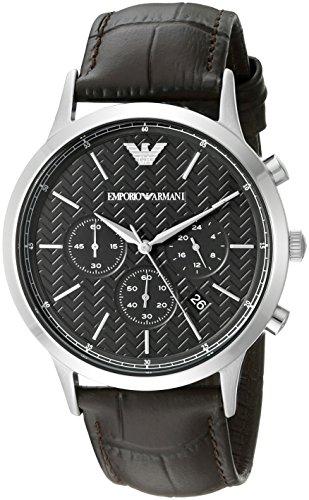 Emporio Armani Men's AR2482 Dress Brown Leather Watch