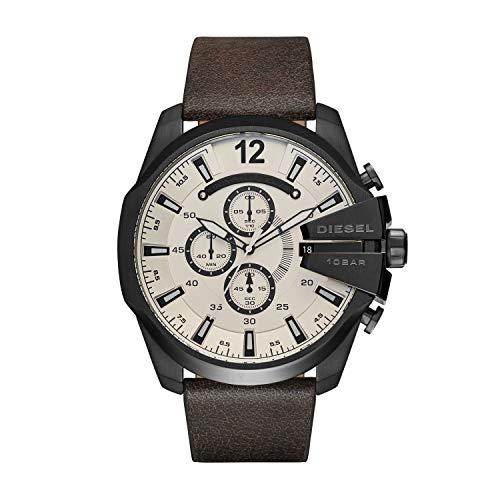 Diesel Men's DZ4422 Mega Chief Brown Leather Watch