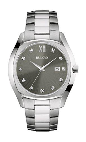 Bulova Men's Quartz Stainless Steel Dress Watch, Color:Silver-Toned (Model: 96D122)