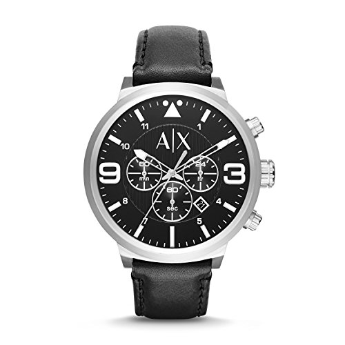 Armani Exchange Men's AX1371 Black Leather Watch