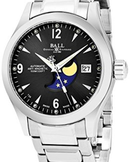 Ball Engineer II Ohio Moonphase Black Face Date Swiss Automatic Stainless Steel Bracelet Watch NM2082C-SJ-BK