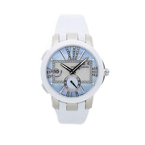 Ulysse Nardin Executive Dual Time Mechanical (Automatic) Blue Dial Womens Watch 243-10/393 (Certified Pre-Owned)