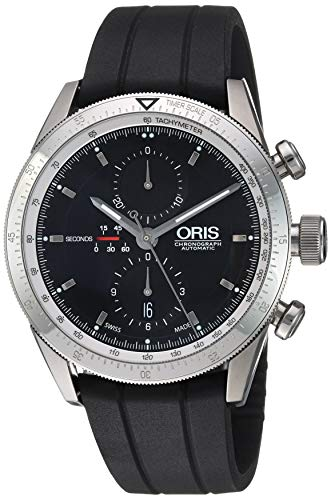 Oris Men's 674 7661 41 74 MB 67476614174MB Black Dial Stainless steel Automatic Movement 44mm
